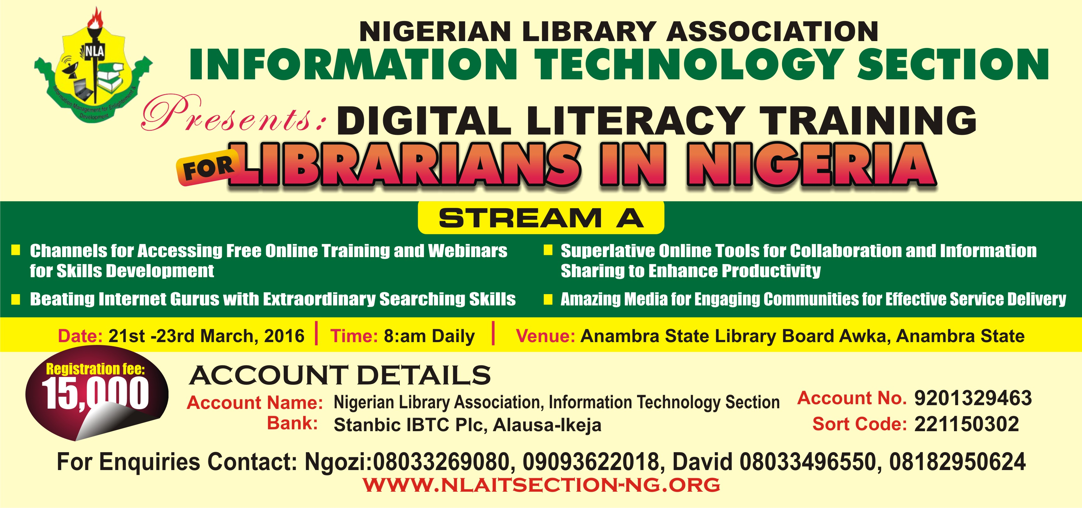 Reminder: Digital Literacy Training Stream B